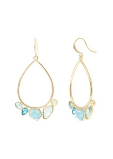 Banana Republic Soft Stones Hoop Earrings