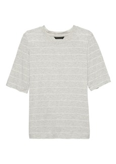 Banana Republic Soft Stretch Elbow-Sleeve T-Shirt