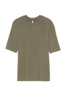 Banana Republic Soft Stretch Elbow-Sleeve T-Shirt