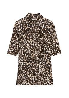 Banana Republic Soft Stretch Modal Mock-Neck T-Shirt
