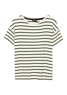 Banana Republic Soft Stretch Relaxed Boat-Neck T-Shirt