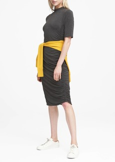 Banana Republic Soft-Stretch Rouched T-Shirt Dress