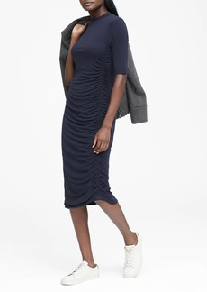 Banana Republic Soft-Stretch Ruched T-Shirt Dress