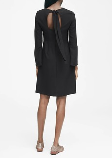 Banana Republic Solid Tie-Back Dress