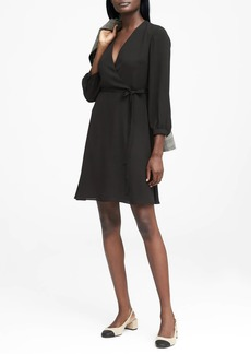 Banana Republic Solid Wrap Dress