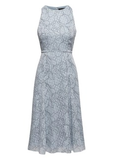 Banana Republic Sparkle Floral Paneled Midi Dress