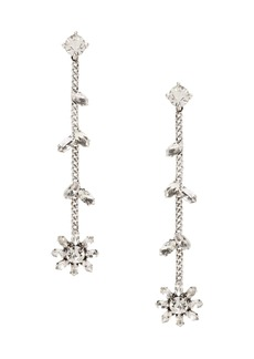 Banana Republic Sparkle Flower Linear Earrings