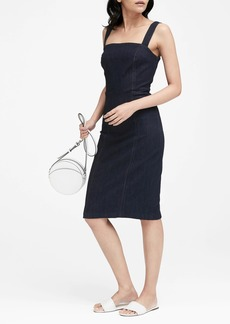 Banana Republic Square-Neck Denim Sheath Dress