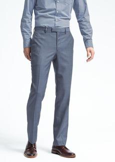 Banana Republic Standard Blue Plaid Wool Suit Trouser