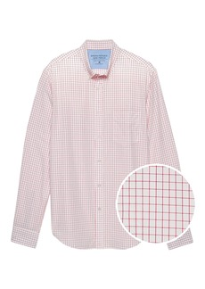 Banana Republic Standard-Fit Luxe Poplin Grid Shirt