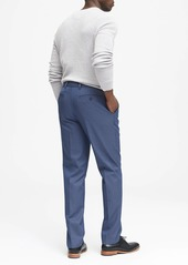 Banana Republic Standard Fit Non-Iron Blue Pant