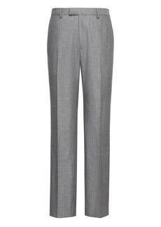 Banana Republic Standard Gray Pinstripe Italian Cotton Suit Pant