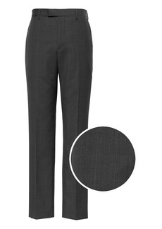 Banana Republic Standard Italian Wool Plaid Suit Pant