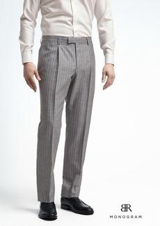 Banana Republic Standard Monogram Gray Stripe Wool Blend Suit Trouser