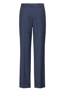 Banana Republic Standard Navy Plaid Italian Wool Suit Pant