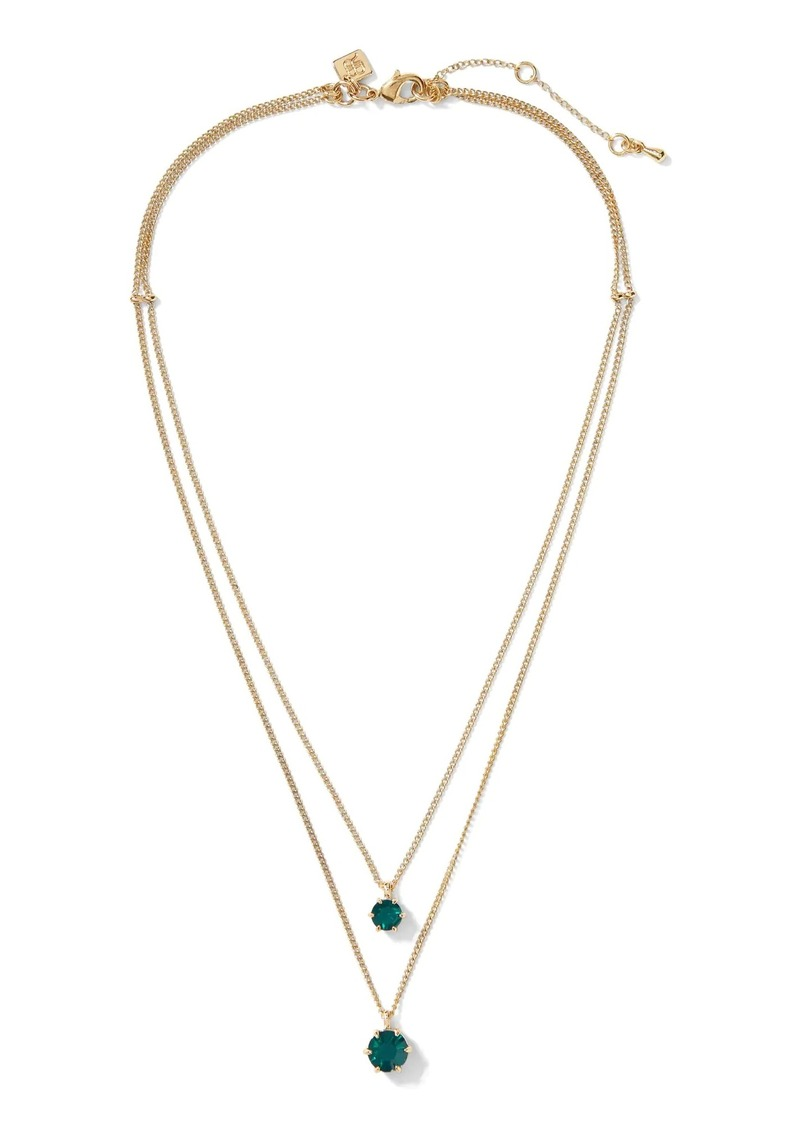Banana Republic Statement Stones Double Layer Necklace