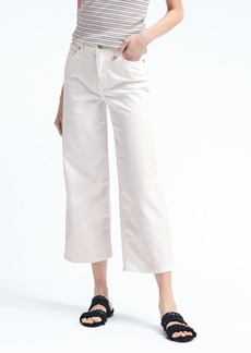 Stay White Wide-Leg Crop Jean