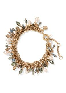 Banana Republic Stone Bead & Pearl Bracelet