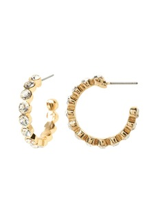 Banana Republic Stone Strand Hoop Earrings