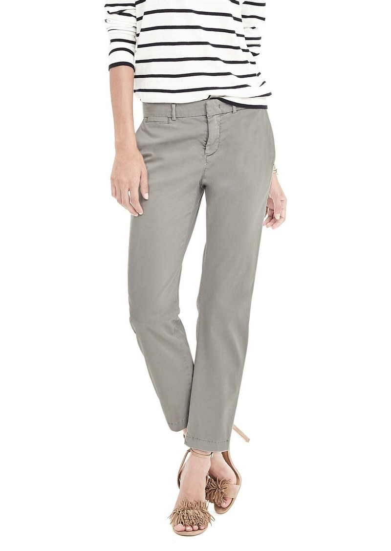 Banana Republic Straight-Fit Crop Chino