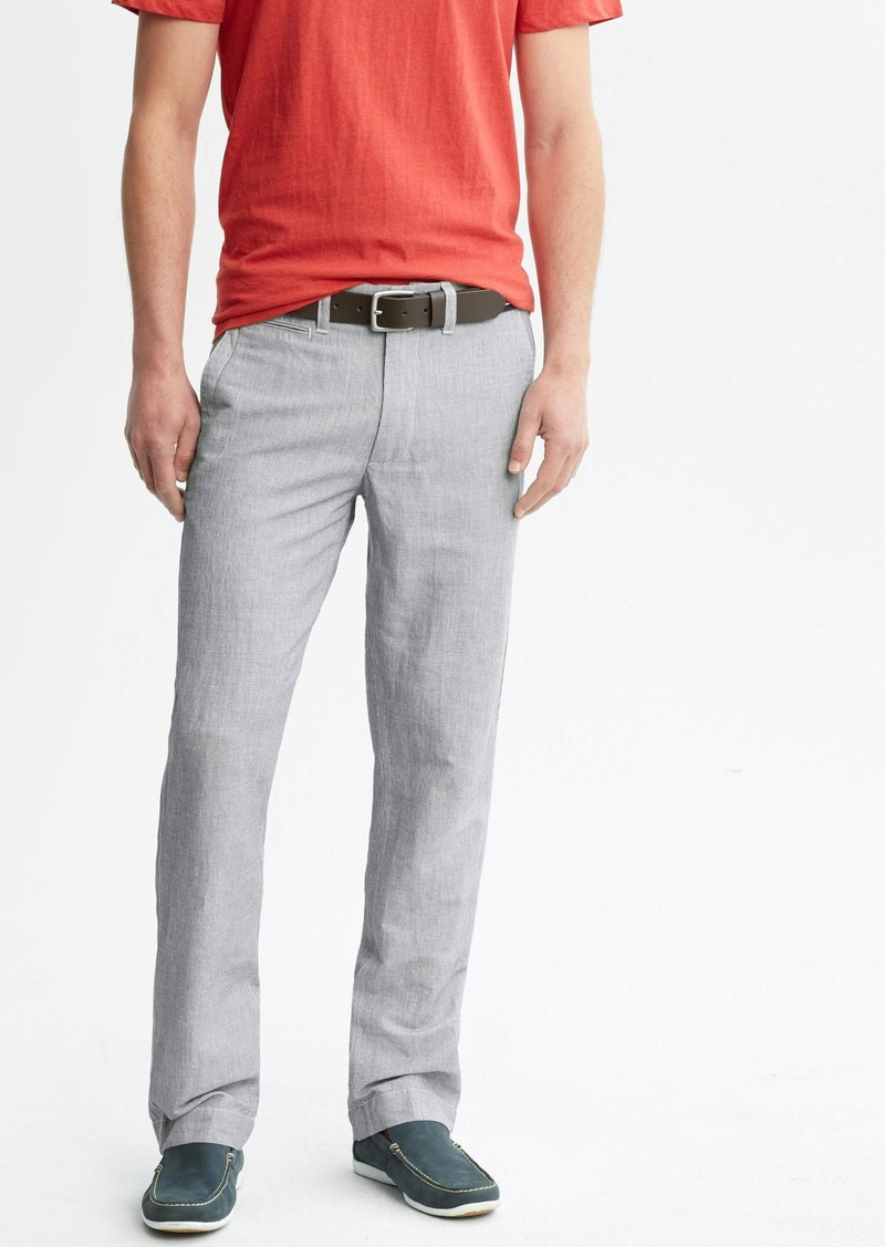 Banana Republic Straight-Fit Linen-Cotton Utility Pant
