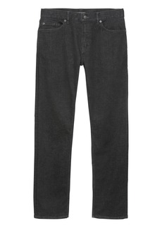 Banana Republic Straight Rapid Movement Denim Black Jean