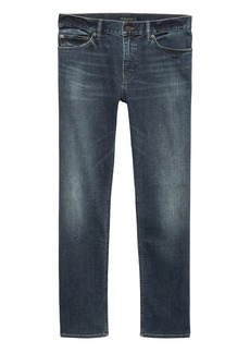 Banana Republic Straight Rapid Movement Denim Medium Wash Jean