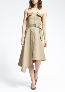 Strapless Asymmetrical Utility Dress