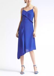 Strappy Asymmetrical Foldover Dress