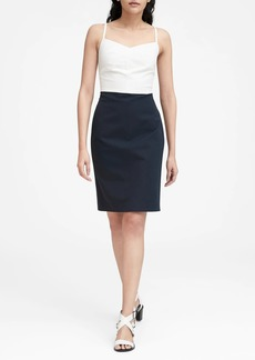 Banana Republic Strappy Bi-Stretch Sheath Dress