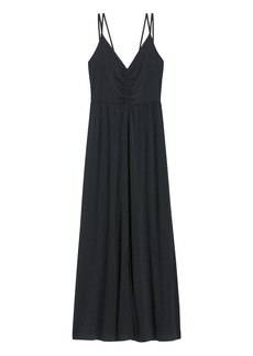 Banana Republic Strappy Ruched Maxi Dress