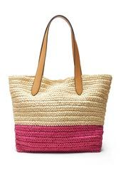 Banana Republic Straw Beach Tote Bag