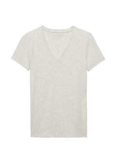 Banana Republic Stretch Cotton-Modal Fitted V-Neck T-Shirt