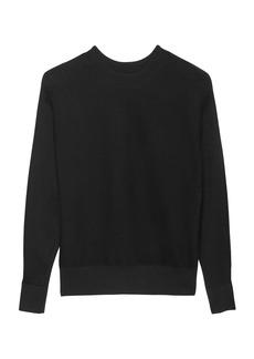 Banana Republic Stretch-Cotton Ribbed Dolman-Sleeve Sweater