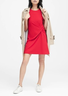 Banana Republic Stretch-Crepe Twist-Front Dress