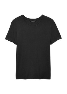 Banana Republic Soft Stretch Keyhole-Back T-Shirt