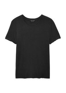 Banana Republic Soft Stretch Keyhole-Back T-Shirt