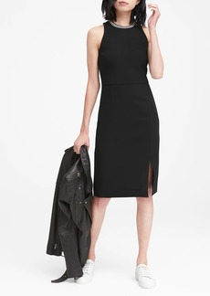 Banana Republic Stretch Racer-Neck Sheath Dress