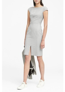 Banana Republic Heathered Bi-Stretch V-Back Sheath Dress