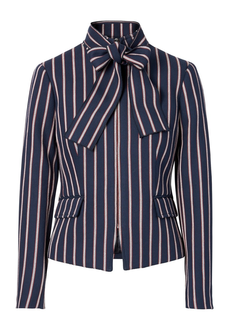 b218cd48fe2ba4 Banana Republic Stripe Bow-Neck Jacket