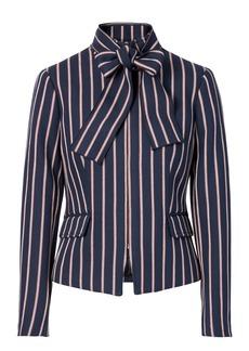 Stripe Bow-Neck Jacket
