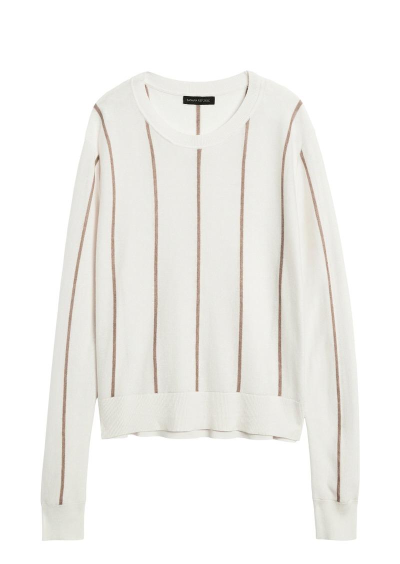 Banana Republic Silk Cotton Cropped Sweater