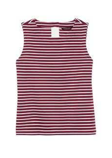 Banana Republic Stripe Button-Back Shell