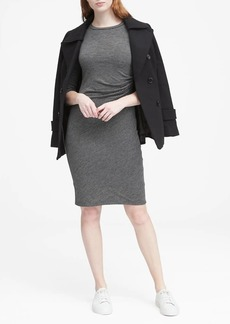 Banana Republic Cozy Knit Long-Sleeve Ruched-Side Dress