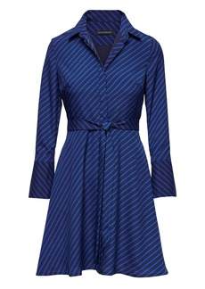 Banana Republic Stripe Fit-and-Flare Shirt Dress