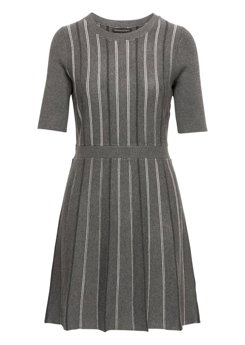 9a2326b9a72 Banana Republic Stripe Fit-and-Flare Sweater Dress