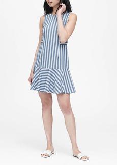 Banana Republic Stripe Flounce-Hem Dress