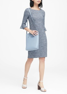 Banana Republic Stripe Flutter-Sleeve Dress