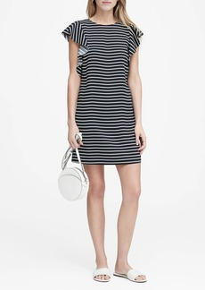 Banana Republic Stripe Flutter-Sleeve Shift Dress