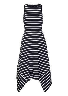 Banana Republic Stripe Handkerchief-Hem Ponte Dress